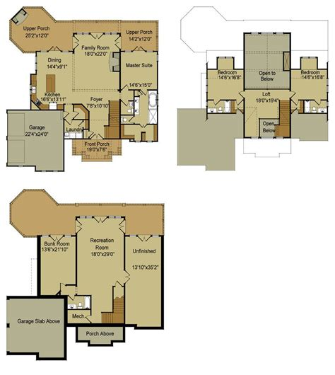 Single Floor Home Plans by Lake House Floor Plans With Walkout Basement 2017 House