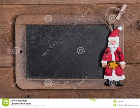 chalk board  merry christmas message santa  wooden backgr royalty  stock photography