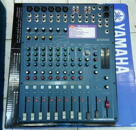 Daftar Mixer Yamaha 12 Channel jual mixer yamaha mg 124cx baru 12 channel di lapak quality electronic afui81