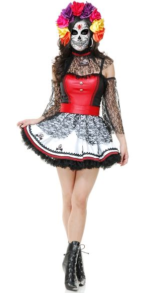 Dress Of The Day Thisbe Dress by Dia De Los Muertos Costume Mexican Costume Womens