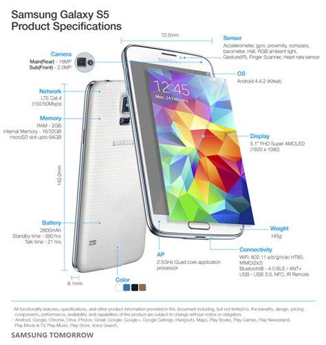 galaxy s5 specs samsung galaxy s5 specifications news18