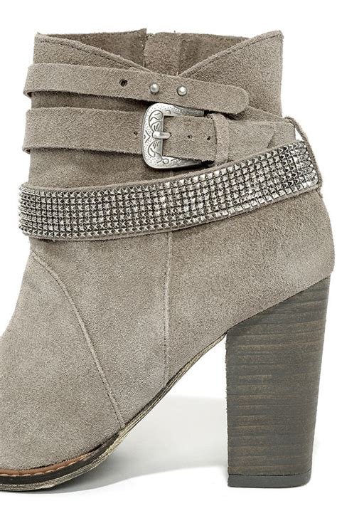 kickers slop leather suede grey laundry zanga grey booties leather ankle