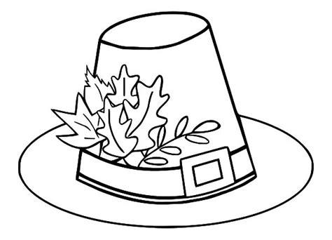 coloring page pilgrim hat pilgrim hat coloring page metello