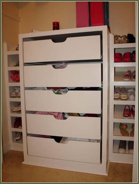 Closet Drawer System Wood Closet Systems With Drawers Home Design Ideas