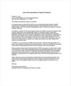 scholarship letter of recommendation template sle letter of recommendation doc contoh 36