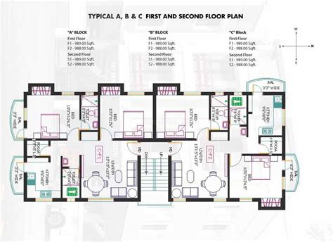 Apartment Block Floor Plans apartment floor plans in india