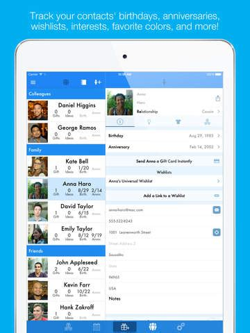 gift list app for iphone giftplanner gift list organizer for and birthdays screenshot