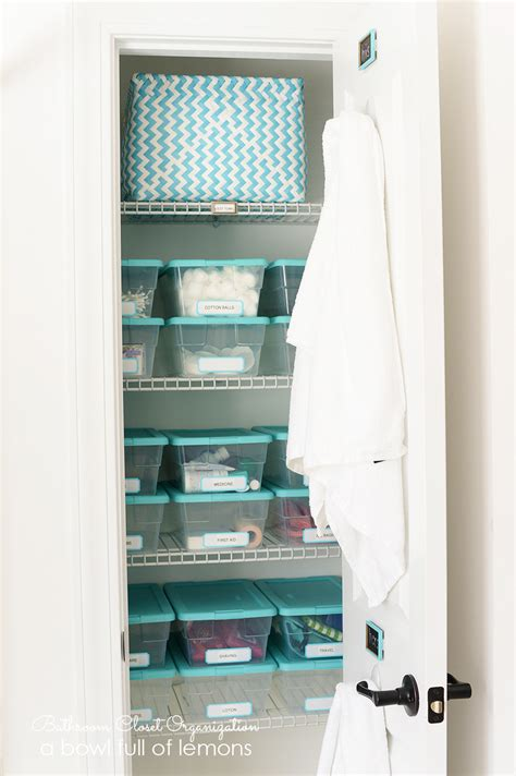 how to organize bathroom closet bathroom