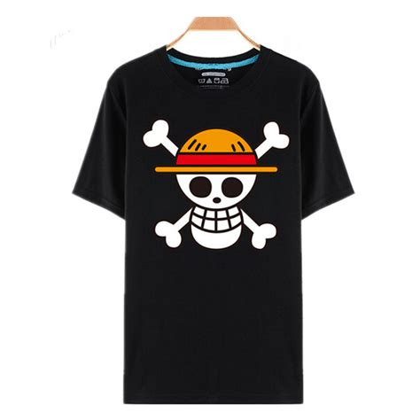T Shirt Kaos Keren One Luffy 3 one luffy straw hat black t shirts anime store