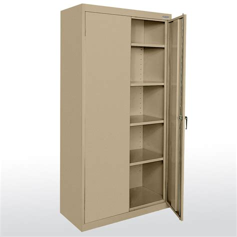 storage armoire with shelves sandusky cabinets ca41361872 classic plus series storage