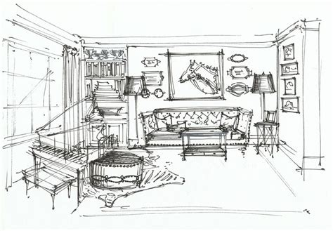 Living Room Interior Sketch Table by Residence High Coffee Tables Interior Sketch
