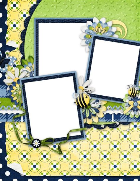 scrapbook layout pdf 17 best images about summer frames on pinterest pansies