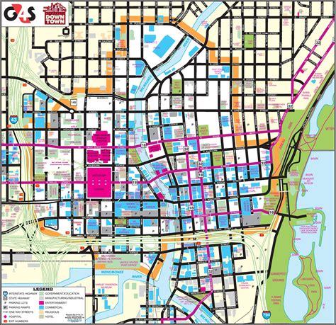 milwaukee on map milwaukee downtown map