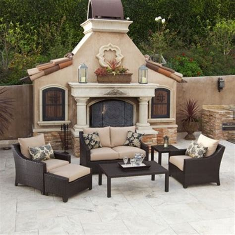 backyard patio set rst outdoor delano all weather wicker seating set contemporary patio furniture and