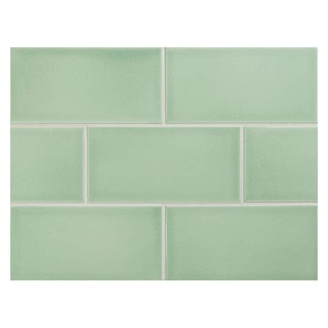 subway tile colors vermeere ceramic tile apalachian green gloss 3 quot x 6