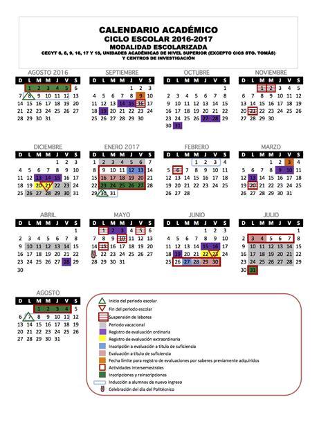 Calendario Academico 2016 Calendario Escolar 2016 2017 P 225 Personal En Escom