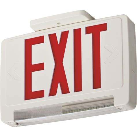 Exit Light Fixtures Lithonia Lighting Contractor Select Thermoplastic Led Integrated Emergency Exit Sign Fixture
