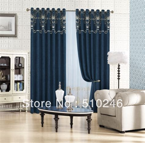 draping curtains over a rod new arrival customized chenille embroidery ready made
