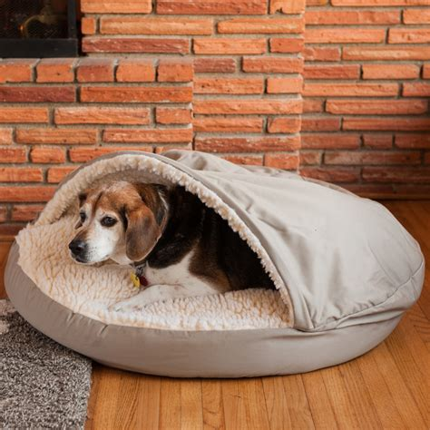 dog bed with hood snoozer cozy cave hooded dog bed reviews wayfair