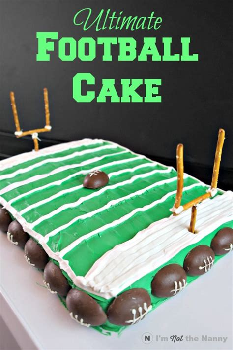 how to throw a home bowl football field cake