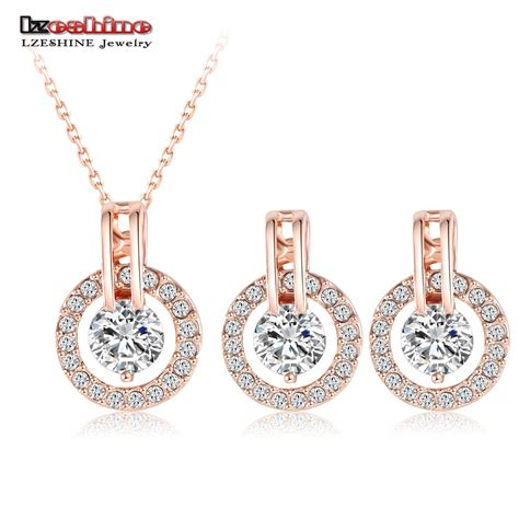 aliexpress sale lzeshine new 2016 big sale wedding jewelry sets rose gold