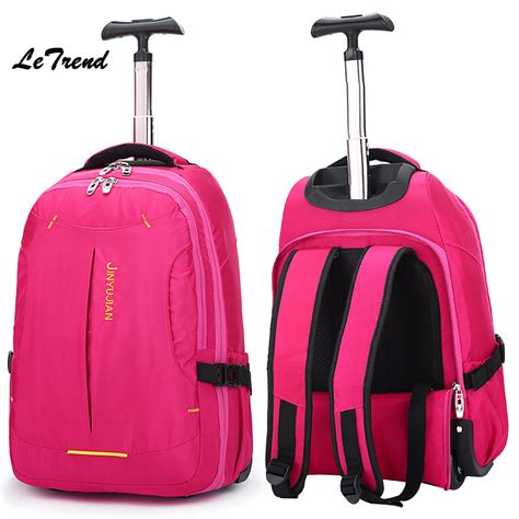 Tas Travel Traveling Travelling Traveller Traveler Bag letrend new fashion oxford travel bag backpack rolling luggage trolley bag 18 boarding