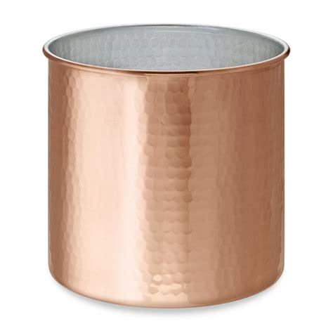 Copper Kitchen Utensil Holder by Hammered Copper Partitioned Utensil Holder Williams Sonoma