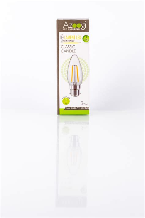 candele led candle led 3 watt b22 azoogi led lighting