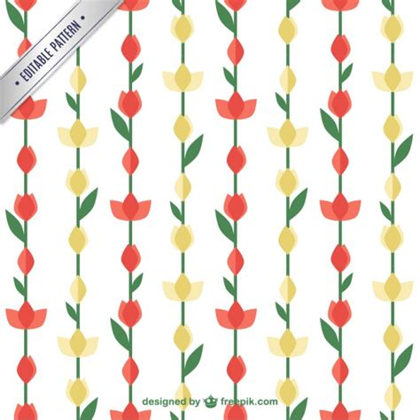 flower pattern freepik red and yellow flower pattern vector free download