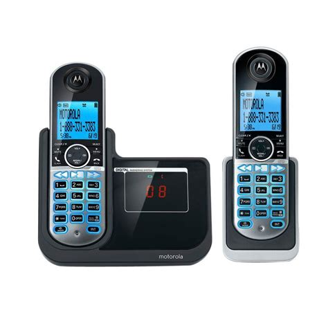 motorola dect 6 0 2 handset cordless phone with answering