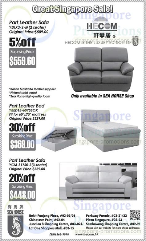 Seahorse Sofa Bed Singapore by Sea Furniture Great Singapore Sale Offers 20 May 2014