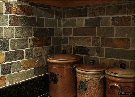 brown slate mosaic backsplash tile