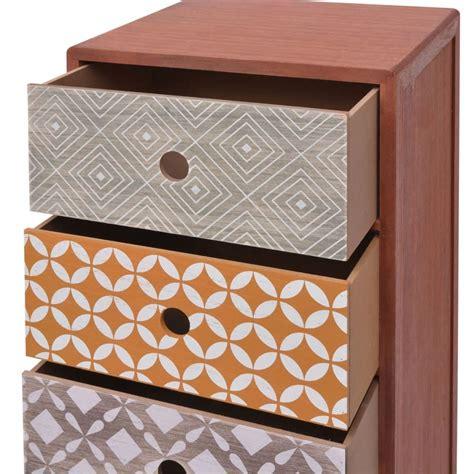 mobiletti con cassetti articoli per vidaxl mobiletto con 5 cassetti marrone