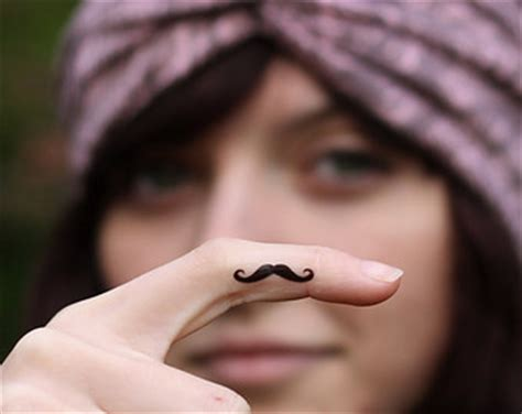 tattoo finger moustache mustache finger tattoo designs ideas and meaning