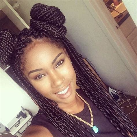 no space cornrows hairstyles 50 box braids hairstyles that turn heads space buns box