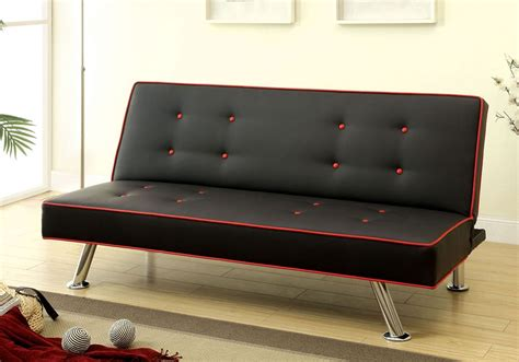 adjustable sofa bed verdis contemporary style black and red adjustable sofa bed