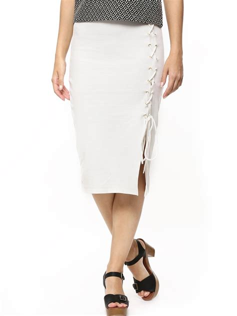 buy koovs side lace up pencil skirt for s