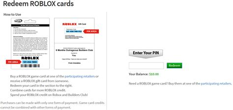 How To Redeem Roblox Gift Card - how to redeem and use game cards roblox support