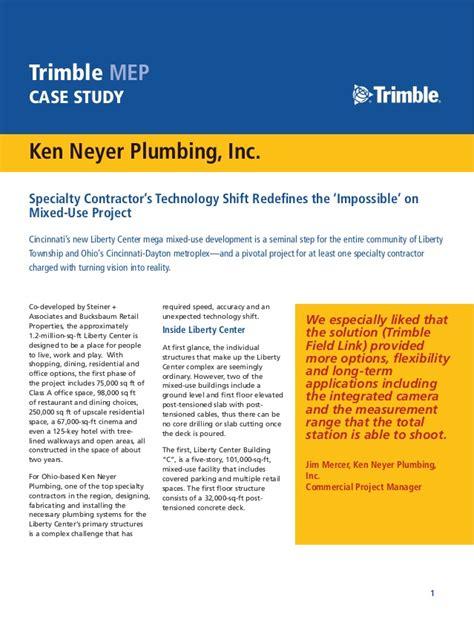 Neyer Plumbing by Ken Neyer Plumbing Study June 2015