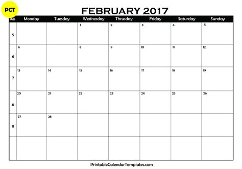 printable free 2017 calendar this little street