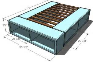 Easy Bed Frame With Storage How To Build A Size Platform Bed With Storage