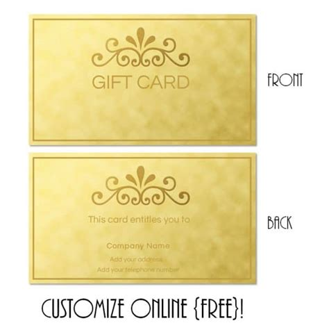 free gift cards templates gift card template