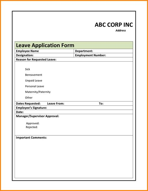 Official Letter Format Leave Application Doc 12501764 Official Letter Format For Leave Application Letter Format 2017 Bizdoska