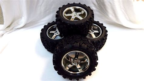 Madmax Traxxas X Maxx Wheels Tires On Rims 1 5 Hpi Km Baja 5b traxxas 4907 3 3 t maxx tires 14mm 3 8 wheels fit e maxx 3906 ebay