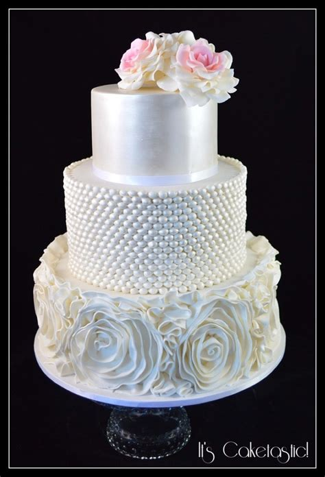 Pearl Cake vintage pearl wedding cake cakecentral
