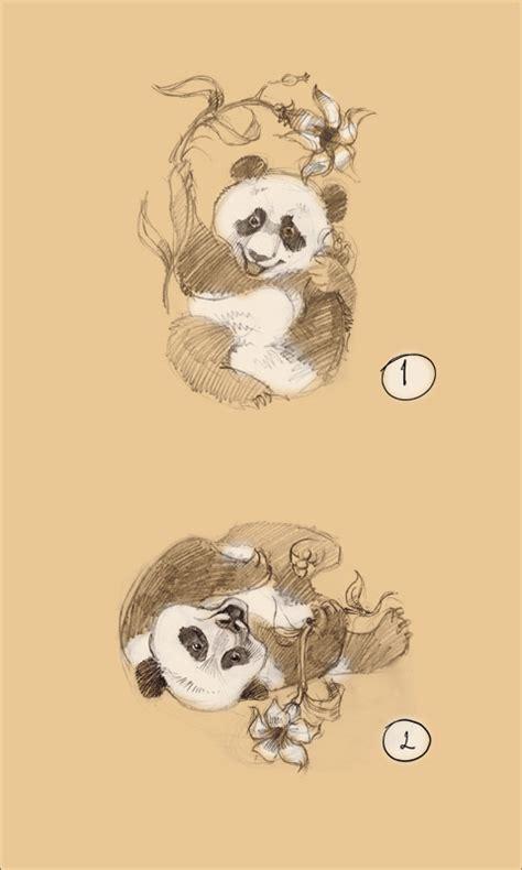 panda cub tattoo cute playing baby pandas