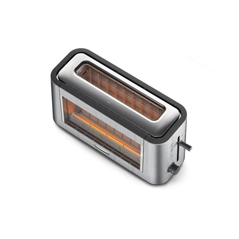 One Slot Toaster Kenwood Tog800cl Personal Clear Glass One Slot Toaster