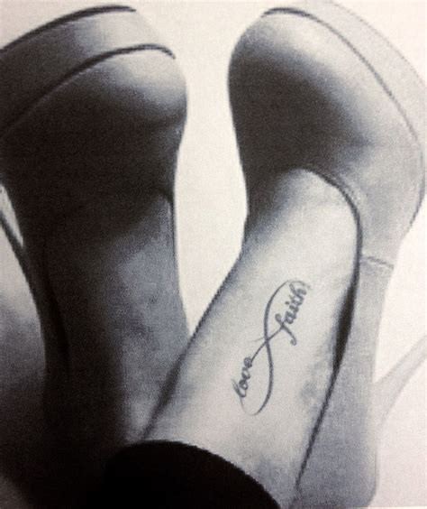 infinity tattoo on foot best 25 faith foot tattoos ideas on small
