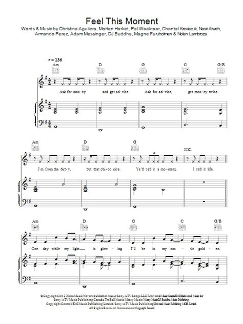 download mp3 song feel this moment of pitbull feel this moment sheet music direct