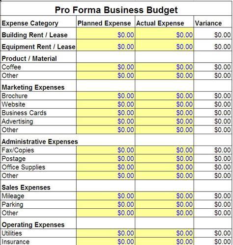 pro forma budget jpg 710 215 749 pixels salon ideas